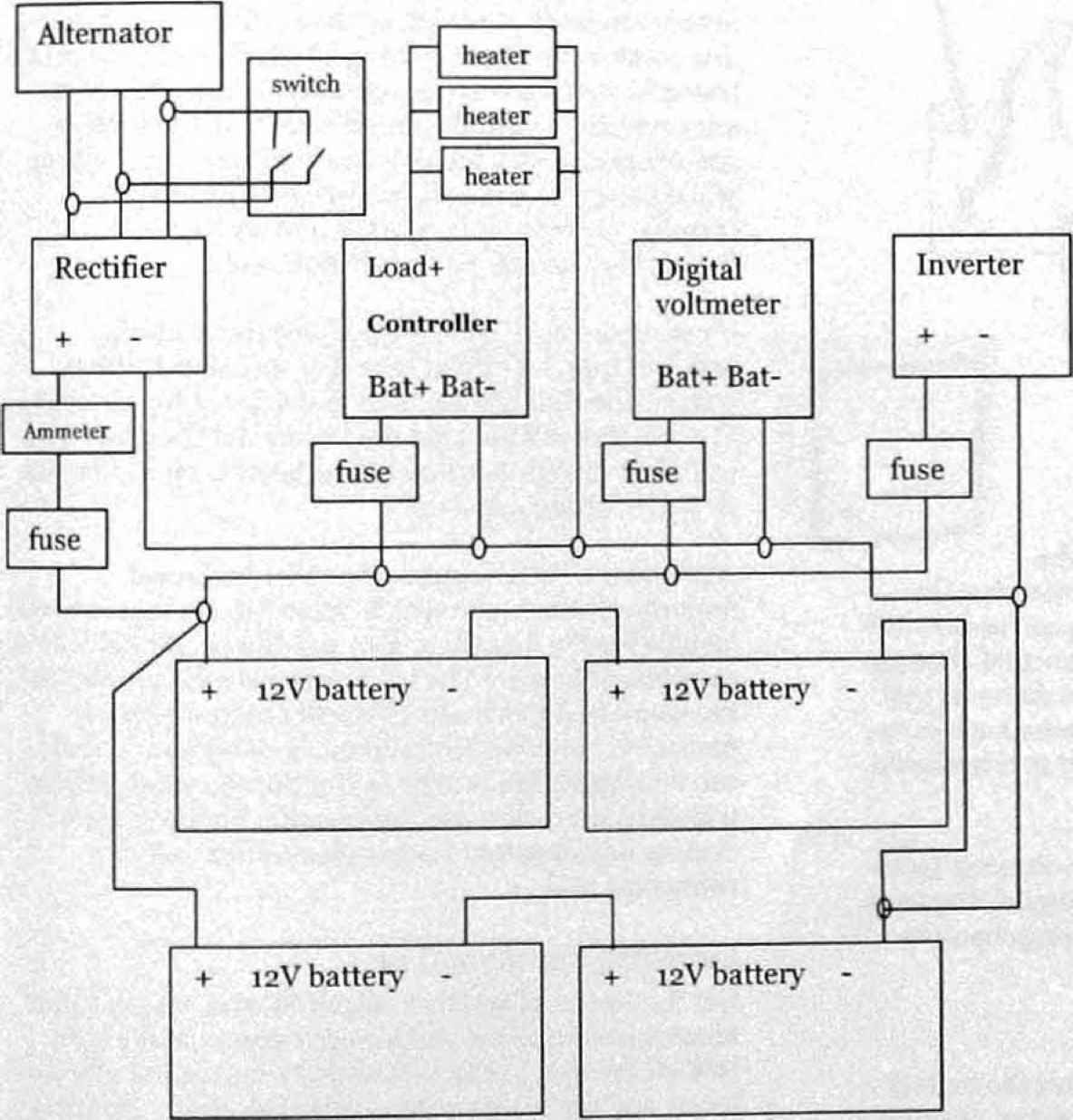 alternator voltmeter wiring diagram