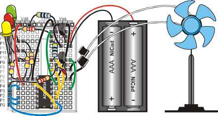 Rechargeable Fan Circuit Diagram