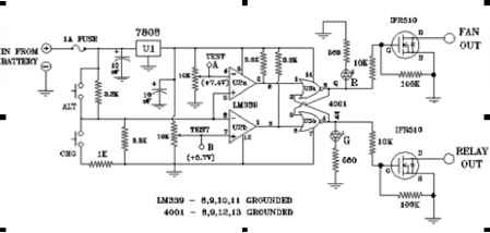 simple charge controller circuit power plant