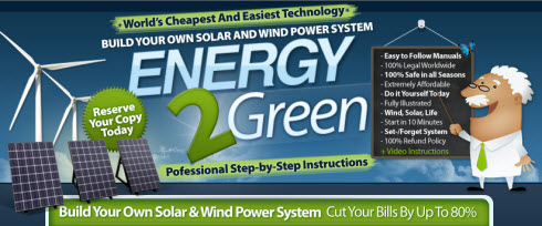 Energy2green Wind And Solar Power System