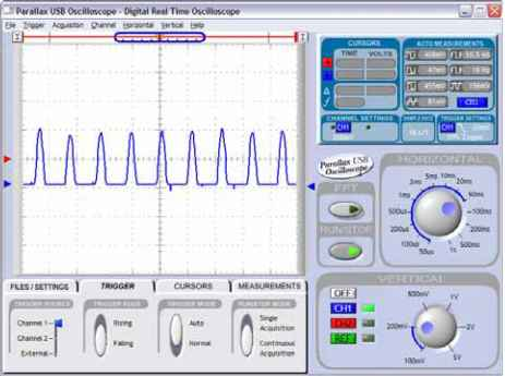 Full Wave Rectified Signal Oscilloscope