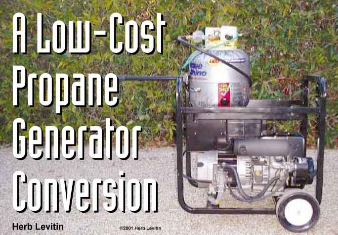 Propane Conversion For Generator
