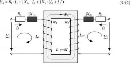Equivalent circuits and circle diagrams for the stator current figure 527 ideal transformer with resistances and reactances ccuart Images